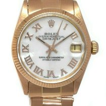 Rolex Rose gold Automatic Mother of pearl Roman numerals 31mm pre-owned Oyster Perpetual Date
