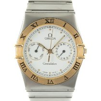 Omega Constellation Day-Date Acero y oro 32.5mm Blanco
