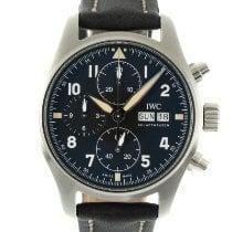 IWC 파일럿 스핏파이어 크로노그래프 신규 2021 자동 크로노그래프 시계 및 정품 박스와 서류 원본 IW387901