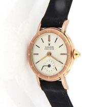 Rolex Rose gold Manual winding White No numerals 23mm pre-owned Oyster Precision