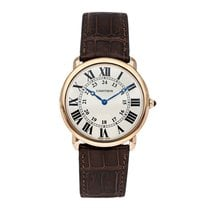Cartier Ronde Louis Cartier Rose gold 36mm Silver Roman numerals United States of America, Pennsylvania, Bala Cynwyd