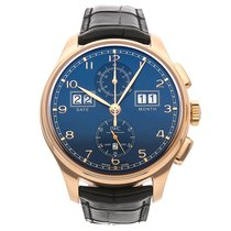 IWC Portuguese Perpetual Calendar Digital Date-Month Rose gold 45mm Blue United States of America, Pennsylvania, Bala Cynwyd