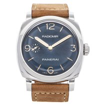 Panerai Radiomir 1940 3 Days pre-owned 47mm Blue Leather