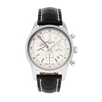 Breitling Transocean Chronograph GMT Steel 43mm Silver No numerals