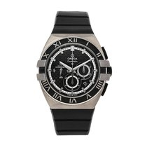 Omega Titanium Automatic Black No numerals 41mm pre-owned Constellation Double Eagle