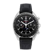 Omega Speedmaster Professional Moonwatch Moonphase Acero 44mm Negro Sin cifras
