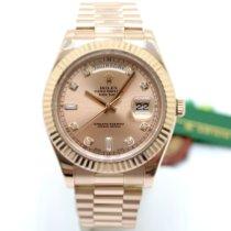 Rolex Day-Date II Oro rosa 41mm Rosa Sin cifras