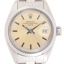 Rolex Oyster Perpetual Lady Date Acier 26mm Jaune
