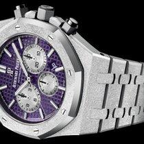 Audemars Piguet White gold Automatic Purple No numerals 41mm new Royal Oak Chronograph