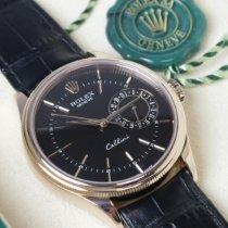 Rolex Cellini Date Oro rosa 39mm Nero Senza numeri