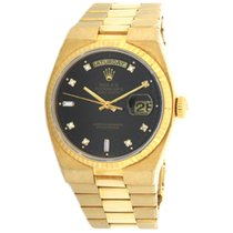 Rolex Day-Date Oysterquartz Yellow gold 36mm Black