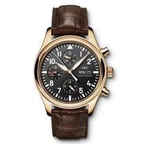 IWC Pilot Chronograph Růžové zlato 42mm Černá Arabské
