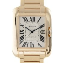 Cartier Tank Anglaise Red gold 35mm Silver