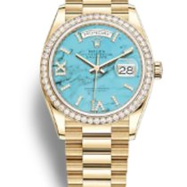 Rolex Day-Date 36 Yellow gold 36mm Blue No numerals United States of America, New York, New York