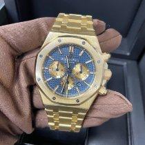 Audemars Piguet Yellow gold Automatic Blue No numerals 41mm new Royal Oak Chronograph