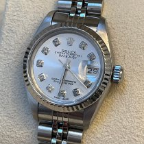 Rolex Silver Automatic Silver No numerals 26mm pre-owned Lady-Datejust
