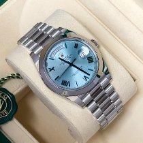 Rolex Day-Date 40 Platina 40mm Blå Romersk