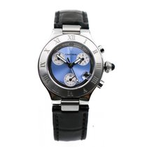 Cartier 21 Chronoscaph Steel 32mm Blue Roman numerals United States of America, California, Mission Viejo