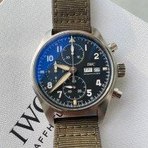 IWC 파일럿 스핏파이어 크로노그래프 스틸 41mm 검정색 아라비아 숫자
