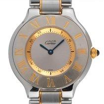 Cartier 21 Must de Cartier Золото/Cталь 31mm Cеребро Римские