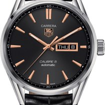 TAG Heuer Carrera Calibre 5 Steel 41mm Black United States of America, New York, Airmont