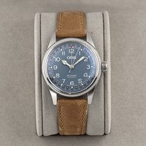 Oris Big Crown Pointer Date pre-owned 40mm Blue Date Year Leather