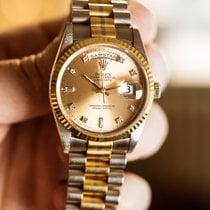 Rolex Day-Date 36 White gold 36mm Gold No numerals