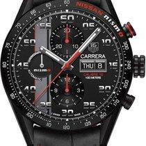 TAG Heuer Titanium Automatic Black Arabic numerals 43mm new Carrera Calibre 16