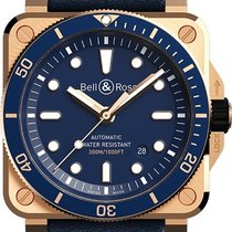 Bell & Ross BR 03 new Automatic Watch with original box BR-03-92-DIVER-BLUE-BRONZE