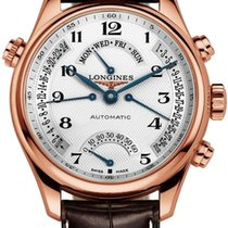 Longines Rose gold Automatic Silver Arabic numerals 44mm new Master Collection