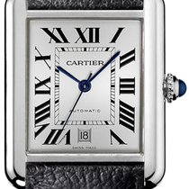 Cartier Steel Automatic Silver Roman numerals 40.8mm new Tank Solo