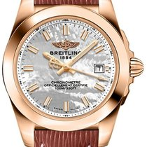 Breitling Rose gold Quartz Mother of pearl 32mm new Galactic 32