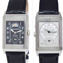 Jaeger-LeCoultre Reverso (submodel) pre-owned 26mm Black GMT Leather