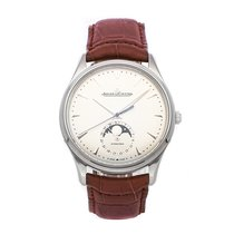 Jaeger-LeCoultre Master Ultra Thin Moon pre-owned 39mm Silver Moon phase Date Crocodile skin