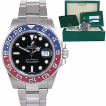 Rolex White gold Automatic Black 40mm pre-owned GMT-Master II