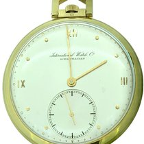 IWC Uhr gebraucht 1937 Rotgold 46mm Arabisch Handaufzug Uhr mit Original-Papieren