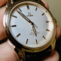 Omega Rose gold Automatic Silver 44mm pre-owned De Ville Co-Axial