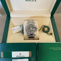 Rolex White gold Automatic Black No numerals 36mm pre-owned Datejust