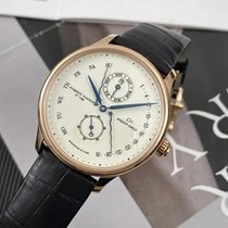 Jaquet-Droz Rose gold Automatic Champagne No numerals 43mm pre-owned Astrale