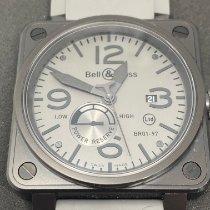 Bell & Ross BR 01-97 Réserve de Marche Сталь 46mm Cерый Aрабские
