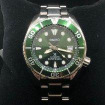 Seiko Prospex Steel 45mm Green No numerals Malaysia, Klang