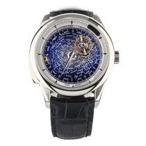 Jaeger-LeCoultre Platinum Manual winding Blue 44mm pre-owned Master Grande Tradition