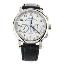 A. Lange & Söhne 1815 White gold 39.5mm Silver United States of America, Illinois, BUFFALO GROVE