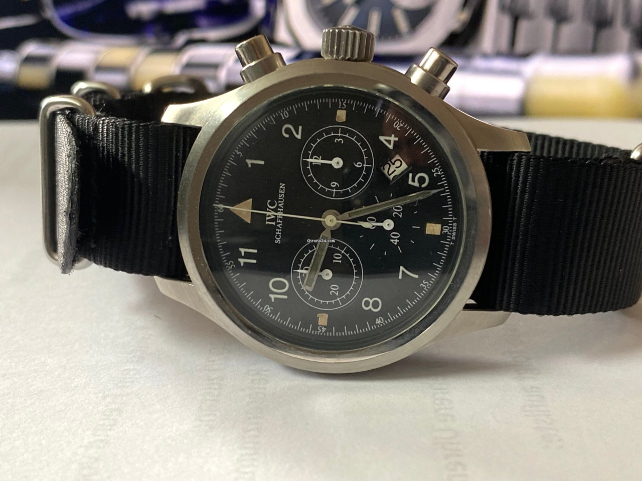 IWC Pilot Chronograph 3741 1989 usado