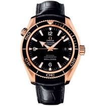 Omega Rose gold Automatic Black Arabic numerals 42mm pre-owned Seamaster Planet Ocean