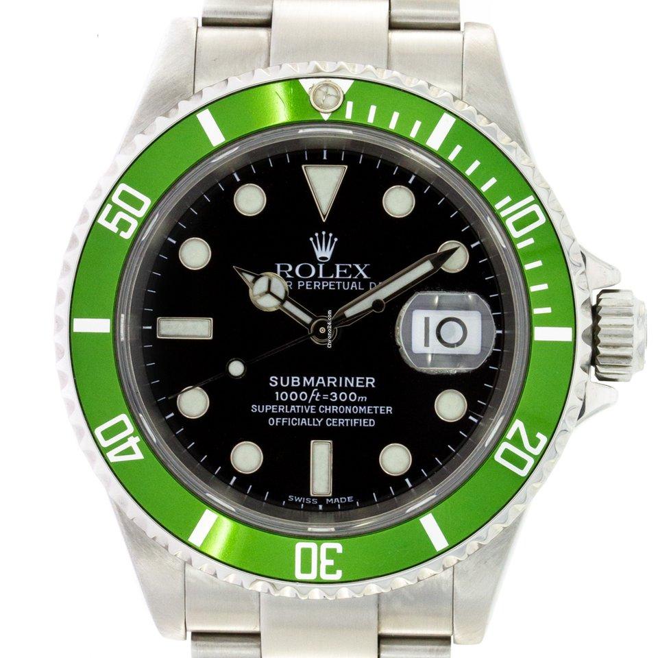 Rolex Submariner Date 16610LV Kermit 2006 подержанные