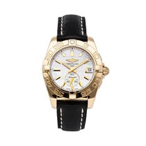 Breitling Rose gold Automatic White No numerals 36mm pre-owned Galactic 36