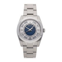Rolex Oyster Perpetual 36 pre-owned 36mm Silver Fold clasp
