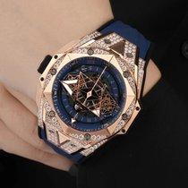 Hublot Big Bang Sang Bleu pre-owned 45mm Blue Chronograph Flyback Date Rubber