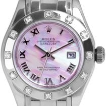 Rolex Lady-Datejust Pearlmaster Ouro branco 29mm